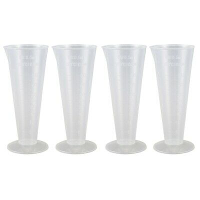 Plastic Conical Laboratory Graduated Measuring Cylinder Cup 50ml 4 Pcs W5V5