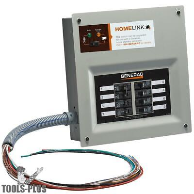 Generac 6852 30-Amp HomeLink Upgradeable Pre-Wired Manual Transfer Switch New