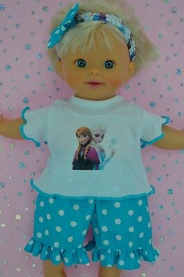 "Play n Wear Doll Clothes 13"" Little Mommy/Baby Born POLKA DOT PANTS~TOP~HEADBAND"