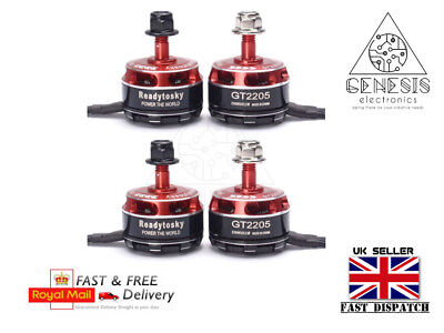 4 x GT2205 2300KV Brushless Motor 2 x CCW / 2 x CW for RC Quadcopter Drone