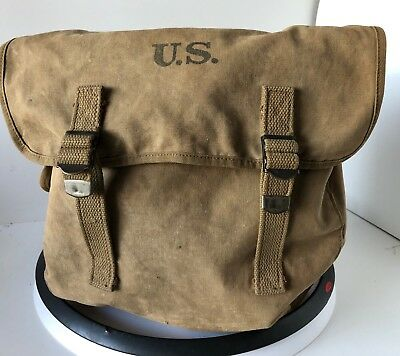 Original US Army WWII Canvas MUSETTE Shoulder BAG Nice Condition!