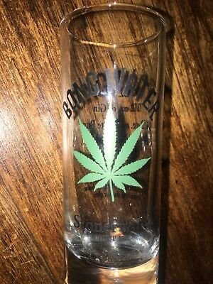 "Bong Water Stonerware Shot Glass Recipe on the Back 4"" Tall Drinking Fun"