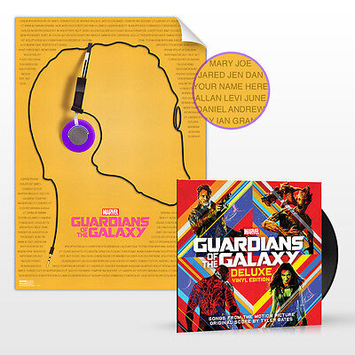 "GUARDIANS OF THE GALAXY SEALED deluxe 2xLP w/ 18x24"" poster"