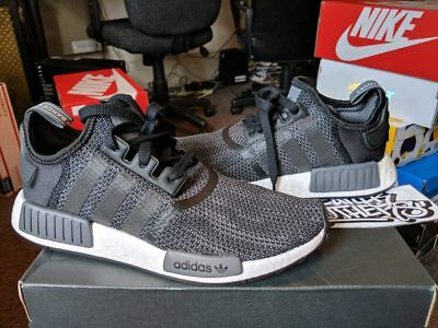 best service c8118 a1572 Adidas NMDR1 Runner Nomad Boost Core Black Grey White Carbon Fiber B79758  3M