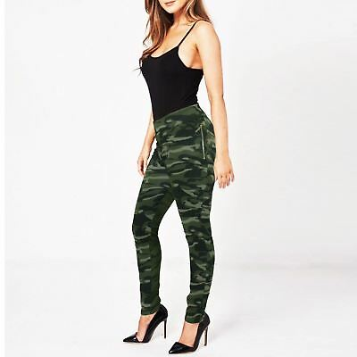 Womens Camouflage Trousers High Waist Tracksuit Joggers Ladies Gym Sweat Pants