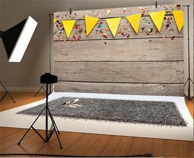 Brown Wood Board Plank Flags 7x5ft Photography Vinyl Backgrounds Photo Backdrops