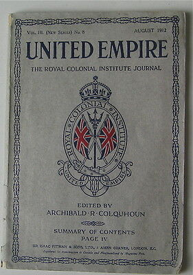 Antique United Empire  The Royal Colonial Journal August 1912