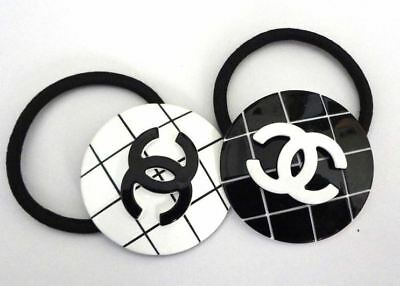 Brand New Chanel Hair Accessory Ponytail Holder Hair Tie Camellia VIP gift