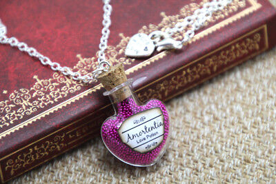 H P INSPIRED Jewelry Amortentia Love Potion Necklace - Bottle Glass Vial Magical