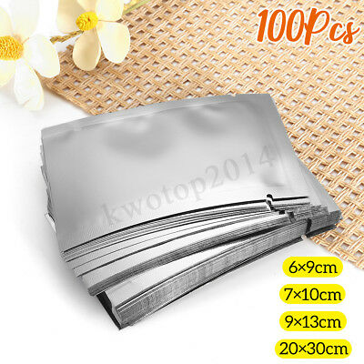 100PCS Aluminum Foil Mylar Bag Vacuum Bags Sealer Fresh Food Storage Packages