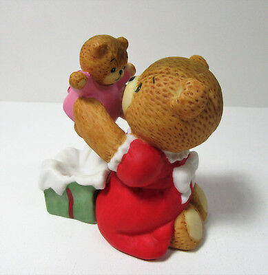 Lucy & Me ~ BABY TEDDY DOLL FOR CHRISTMAS ~ Enesco Porcelain Figurine