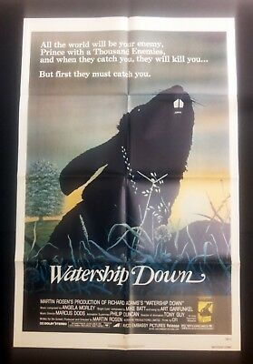 1978 WATERSHIP DOWN Authentic Original 1sht poster in excellent condition BUNNY!