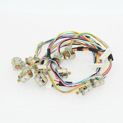 10pcs 2-phase 4-wire 8mm stepper Motor Mini stepping Motor with Copper Gear-1405
