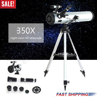 700x76mm Reflector Telescope Beginner With Tripod And Eyepieces Dual Purpose New