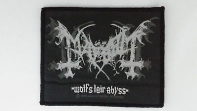 Mayhem Wolf's Lair Abyss 1998 Vintage logo music patch Sew On