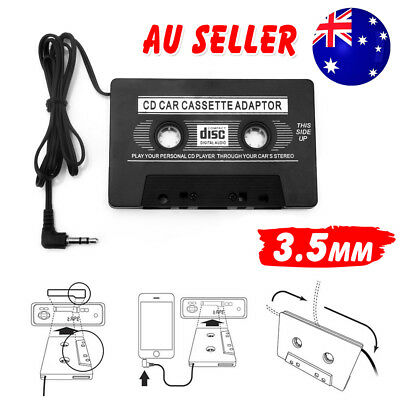 Car Audio Tape Cassette Adapter For IPOD CD MD MP3 IPhone Radio 3.5mm Jack AUX