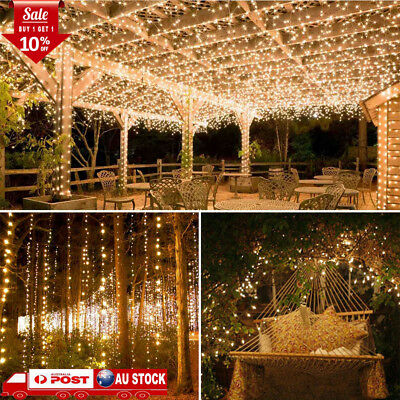 100-200LEDs Solar Power Fairy String Lights Waterproof Garden Party Christmas AU