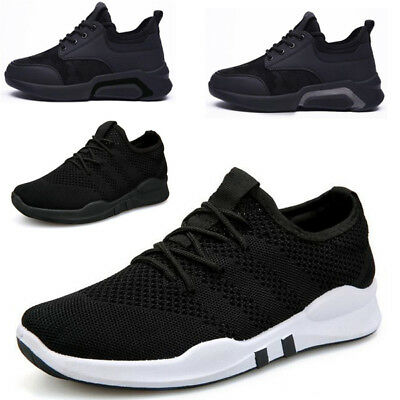 Mens Casual Athletic Shoes Breathable Lightweight Trainers Gym Lace Up Sneakers