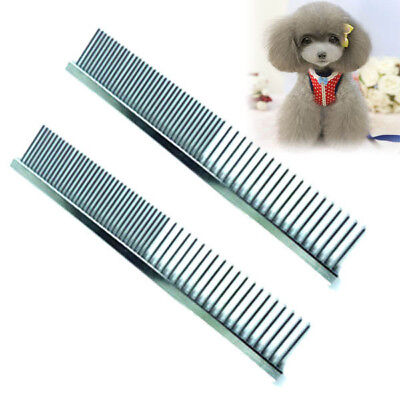 US Pet Dog Cat  Pin Comb StainlessHair Shedding Puppy Kitten Grooming Flea Comb