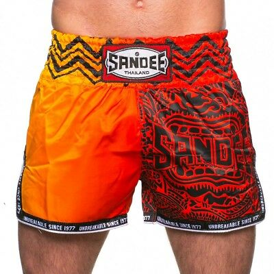 Sandee Warrior Thai Boxing Shorts Red Orange Muay Thai Kickboxing K1 Striking