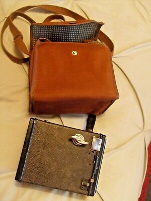 """Old Vintage Box Type Camera And Case """"gap"""""""