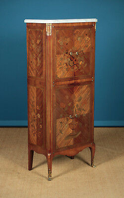 Narrow Marble Top Side Cabinet c.1930.