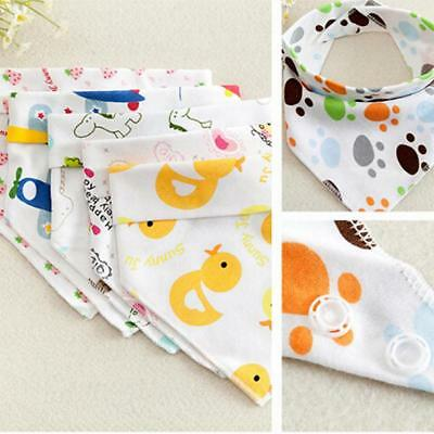 Infant Kids Baby Burp Feeding Saliva Towel Dribble Triangle Bandana Bibs New FI