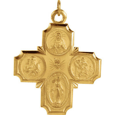 Gold over Sterling Silver 1 Inch Four-Way Cross - Laura Ingraham Cross