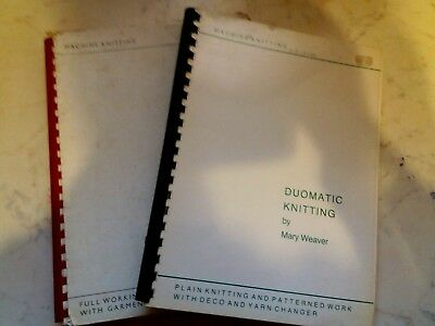 Bk26 Passap Knitting Machine Mary Weaver Lot Of 2 Manuals For The Duomatic 80