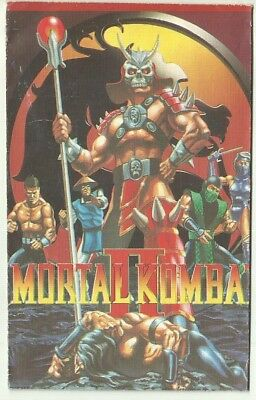 1990 Vintage Mortal Kombat II 1 Sealed Packet