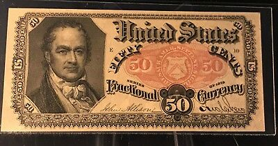 50 Cent Fifth Issue Fractional FR#1381 PMG 65 EPQ