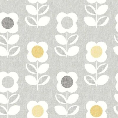 Arthouse Retro House Floral Grey Yellow Wallpaper 901907 - Feature Flower Motif