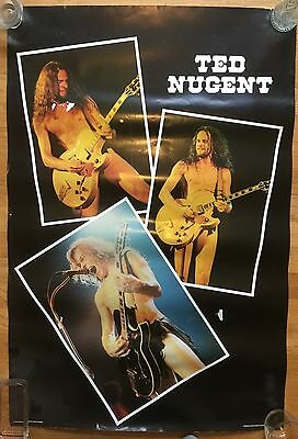 Ted Nugent original vintage 1980 (prepolitician) poster.  Made in Scotland