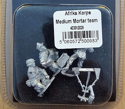 Warlord Games 403012026 Bolt Action 1:56 Afrika Korps medium Mortar Team NEU OVP