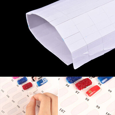 1sheet Sponge Double-sided Adhesive Sticker for Nail Gel Polish Display Card ZPH