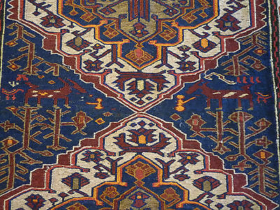 "Fine Soumak  oriental carpet (  8ft x 4ft.11"" )"