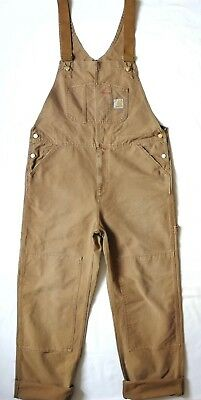 Carhartt WIP Bib Overall, Canvas, Hamilton Brown Stony Washed, W36in L32in