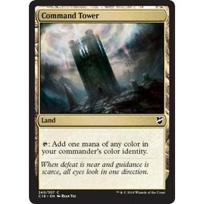 1x COMMAND TOWER - COMMANDER - MTG - NM - Magic The Gathering
