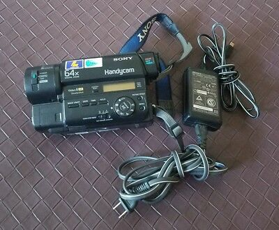 Sony Handycam CCD-TR87 8mm Video Camera Camcorder Video8 Charger AC-L15A Tested