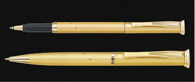 Pierre Cardin Noblesse Satin Gold GT Ballpoint Rollerball Pen Personalized New