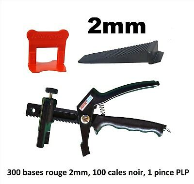 Kit 2 mm croisillon autonivelant professionnel 300/100/pince PerfectLevel PLP.