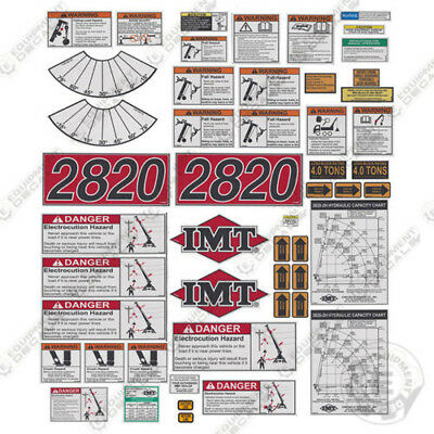 IMT Truck Crane 2820 Series Full Safety Decal Kit with Logos