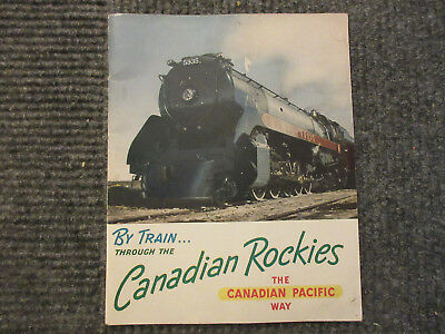 Vintage 1950s Canadian Pacific Booklet - By Train Through the Canadian Rockies