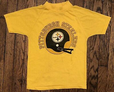 Vintage 80s NFL Pittsburgh Steelers Throwback T-Shirt Youth M Jersey 50/50 Kids
