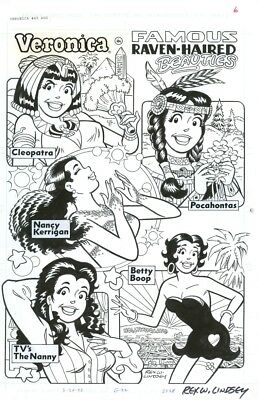 Archie Betty and Veronica Pin Up Pages Betty Boop Jughead by Rex W. Lindsay