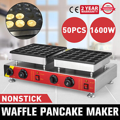 50pcs Poffertjes Electric Dutch Pancake Baker Maker Commercial Kitchen NP-543
