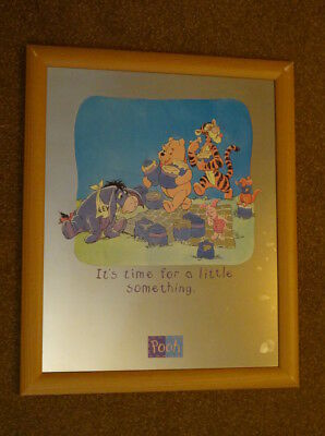 Decorative Winnie the Pooh Scene Printed On Mirror, lovely piece for a nursery