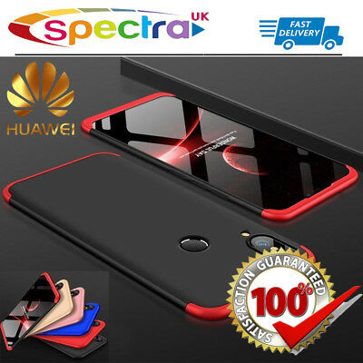 360° Shockproof Plating Hard Case Protective Cover & Tempered Glass for Huawei