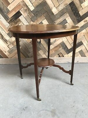 Edwardian Inlaid 2 Tier Occasional Table
