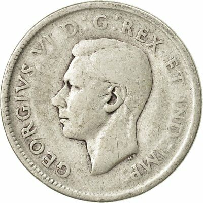 [#438000] Coin, Canada, George VI, 25 Cents, 1944, Royal Canadian Mint, Ottawa